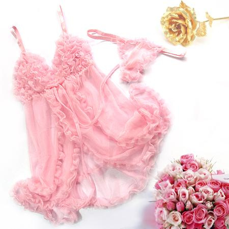 sexy-lingerie-peek-a-boo-babydoll-nightie-g-string-pink-ee891